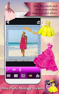 Dress Photo Montage Stickers - náhled
