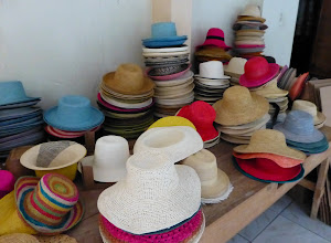 Photo: Hats waiting for finishing touches