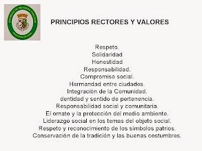 Photo: PRINCIPIOS RECTORES Y VALORES.