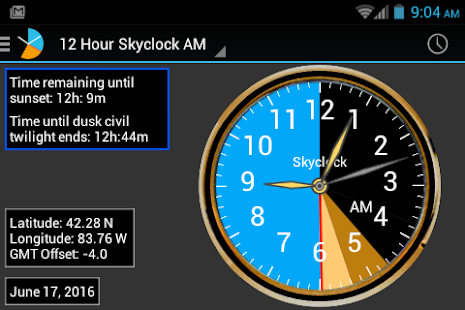 Skyclock Screenshot