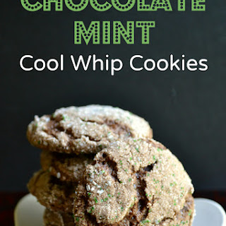 Mint Chocolate Cool Whip Cookies