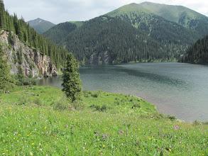 Photo: The upper Kolsai lake