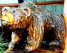 Photo: (Year 2) Day 331 - The Only Bear We've Seen, Carved on a Bench