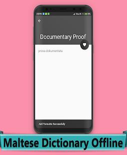 Maltese Dictionary Offline - náhled
