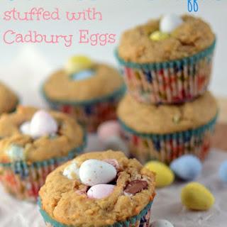 Peanut Butter Cadbury Mini Egg Muffins