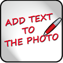 Add text to the photo icon