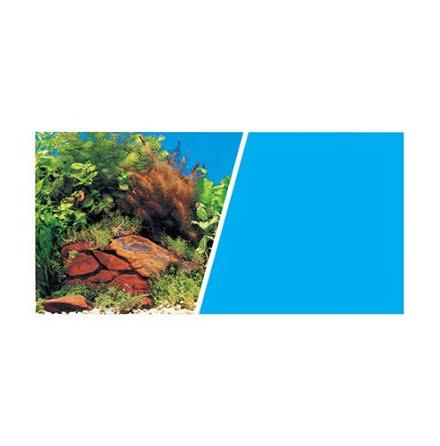 Bakgrund 49cm stenar och växtlighet/blå