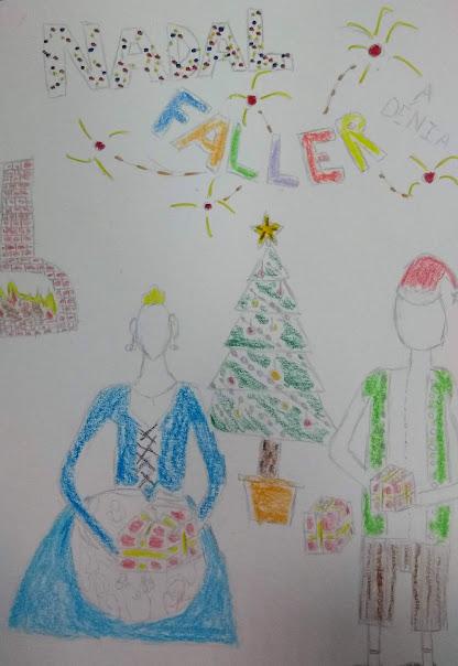 Marc Miralles gana el concurso de tarjetas de navidad de la Junta Local Fallera