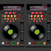 Virtual DJ Mixer With Music