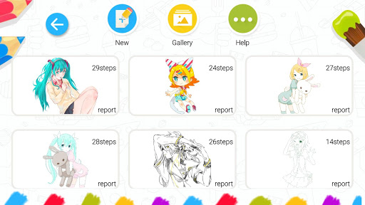 Drawing Tutorials: Anime,Manga app (apk) free download for Android/PC/Windows screenshot