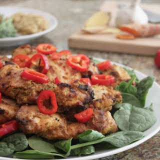 Grilled Ginger Turmeric Chicken.
