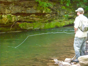 Photo: Fly Fishing behind the Rainbow for Wild Trout