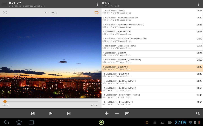 Screenshots of AIMP for iPhone