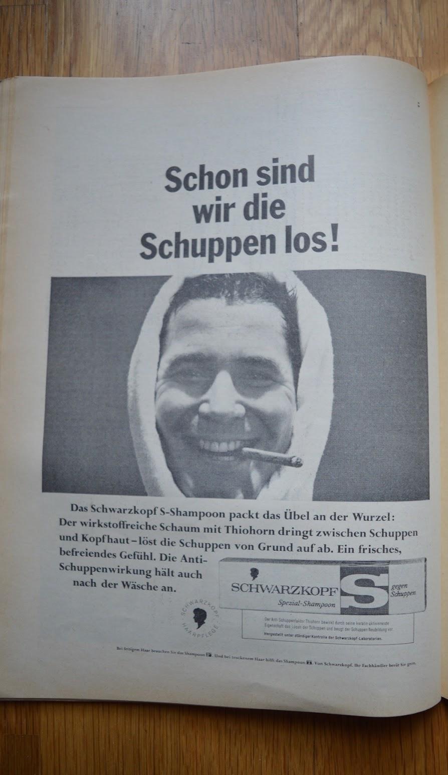 DER SPIEGEL, 29. April 1964 - Werbung für Shampoon