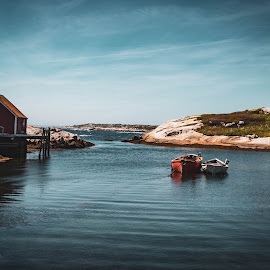 Together by Andrew Ball - Buildings & Architecture Other Exteriors ( harbour, peggy's cove, peggys cove, nova scotia, fishing, sea )