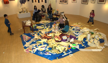 Photo: Sticker Art in Art Gallery context illustrating the mess