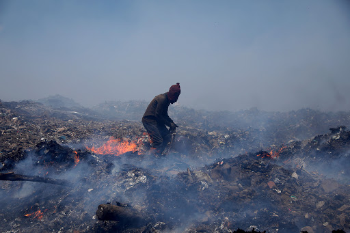 Pietermaritzburg waste pickers blamed as landfill fire flares up again