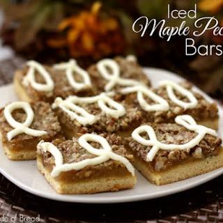 Iced Maple Pecan Bars