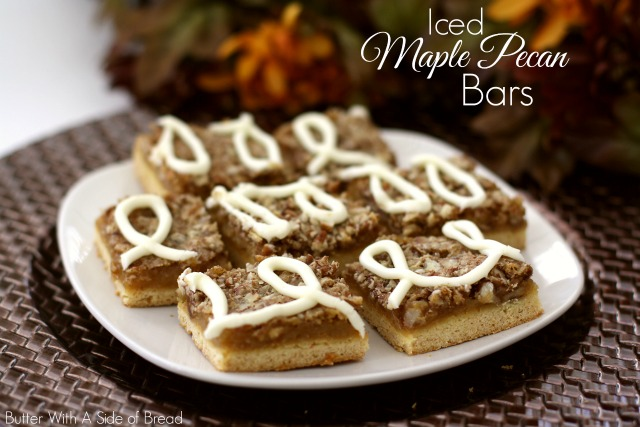 Iced Maple Pecan Bars Recipe