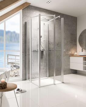 Paroi de douche en U, 75 à 130 cm, Delta Lux II, avec 1 paroi latérale