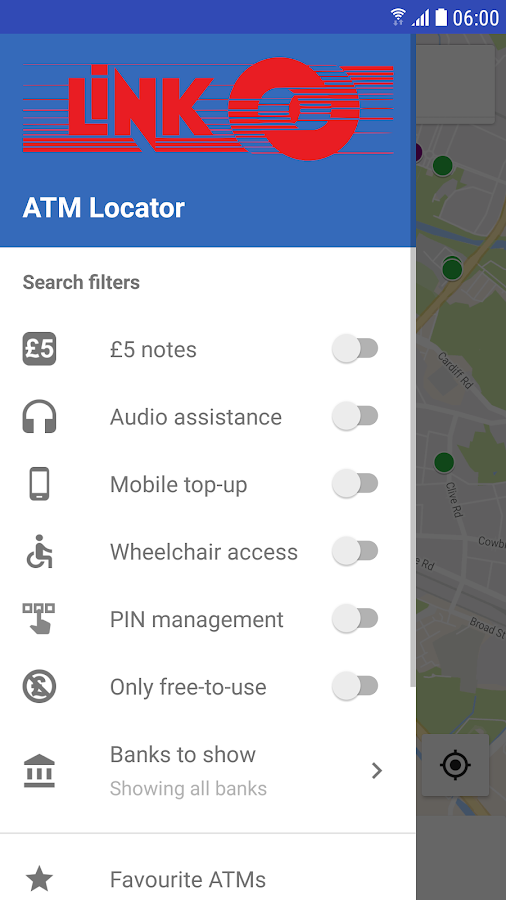 LINK ATM Locator- screenshot