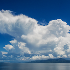 Cloud and the island by Istiak Saikot - Landscapes Cloud Formations
