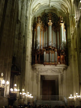 Photo: Some of the pipes of what is considered one of the best organs in Paris. Some of the music is more muted, but the organist also occasionally turns its full power loose, letting us know he can not only fill the large interior, but also blow the doors off if he chose to.