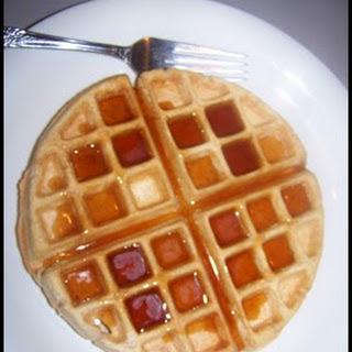 """""""Buttermilk"""" Waffles."""