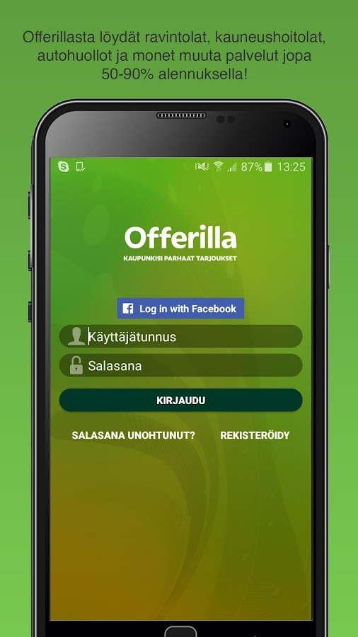 Offerilla- screenshot