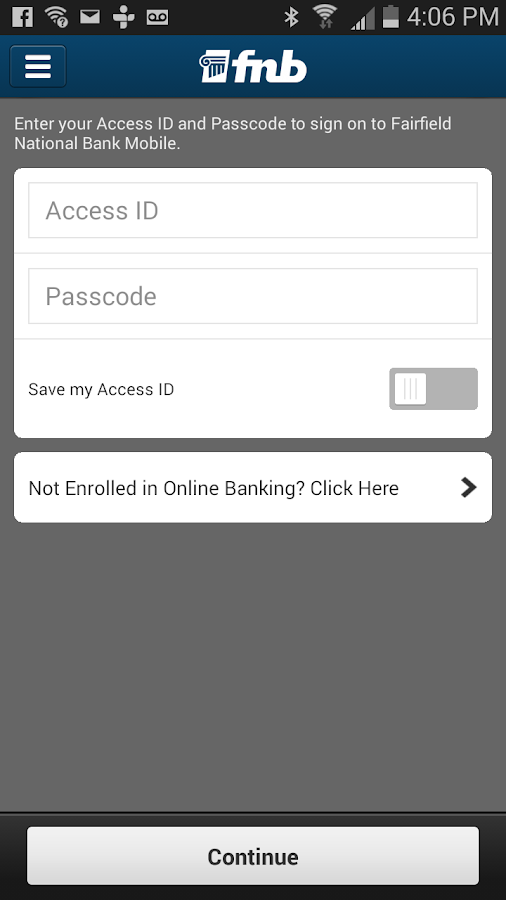 Fairfield National Bank Mobile- screenshot