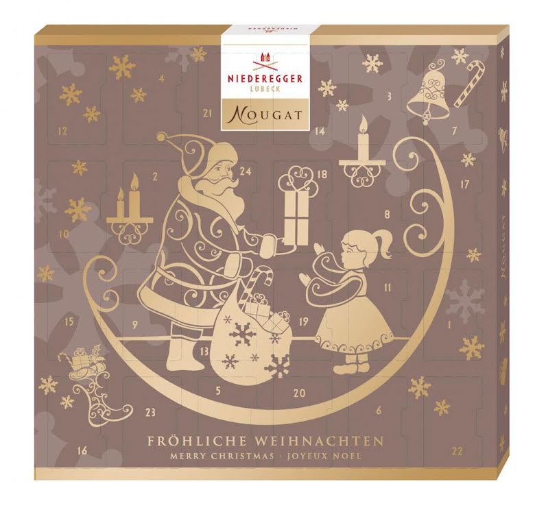 Nougatkalender / adventskalender - 2021 – Niederegger