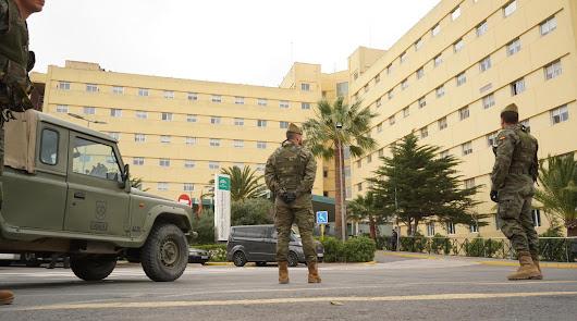 La Legión interviene en Almería frente al coronavirus