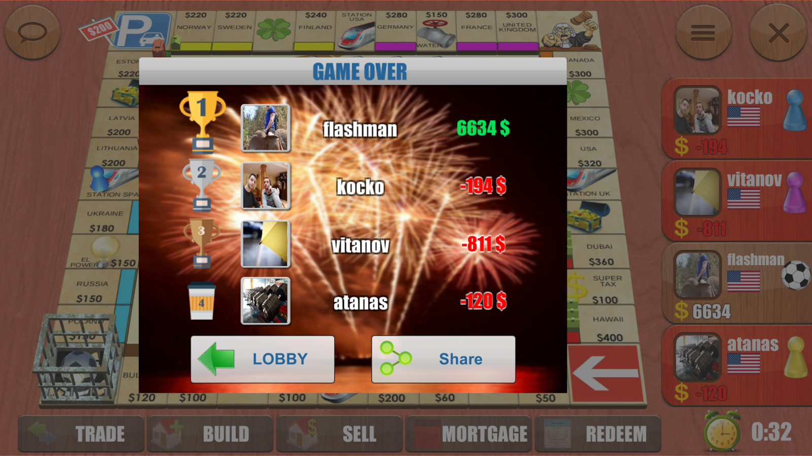 Rento - Dice Board Game Online- screenshot