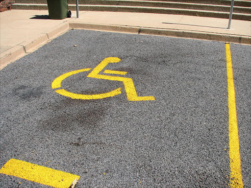 Disabled parking bay. File photo