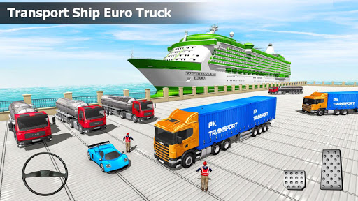 US Truck Cargo Simulator: Transporter Ship Driving 2.1 screenshots 1