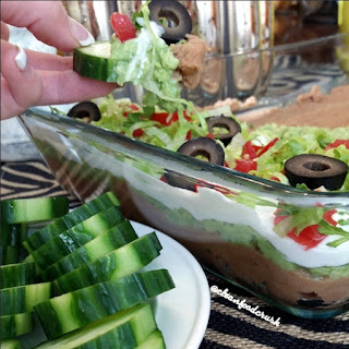 7 Layered Bean Dip w/ Vegetable Slices