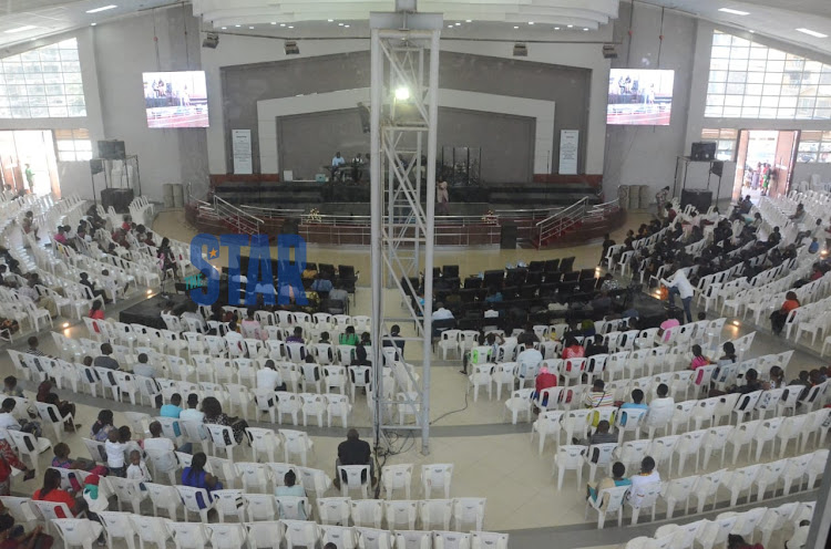 Deliverance Church Umoja during the third service on March 15, 2020.