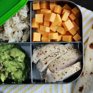 Chicken TAcos. Easy Packed Lunch..