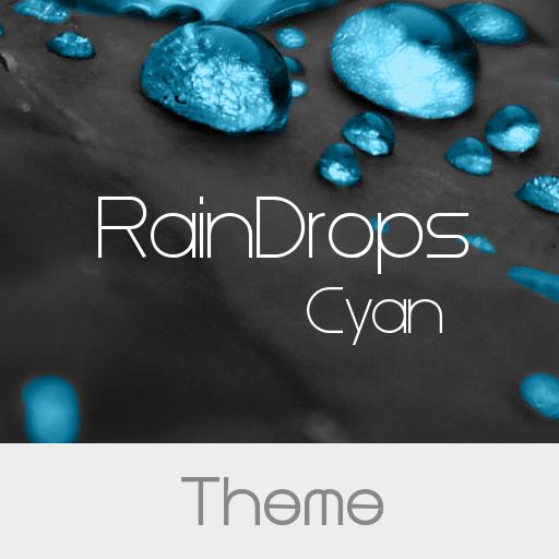 RainDrops Premium Cyan Theme