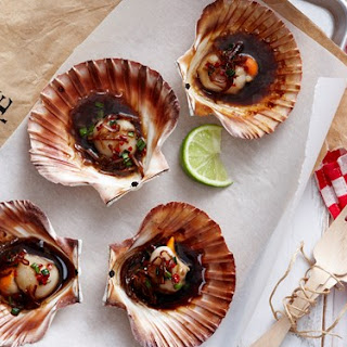 Scallops With Asian Dressing.