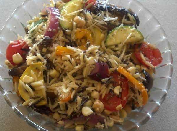 Rainbow Grilled Vegetable Medley Pilaf Recipe