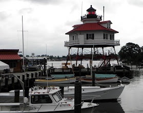 Photo: The Drum Point lighthouse was moved to the museum