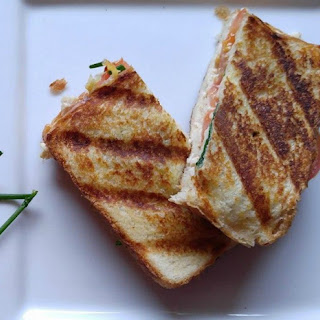 Chicken Cheese Panini Sandwich - Slimmed Down Lunch Delight.