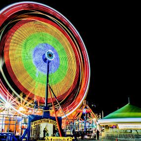 ferris wheel by Andrew Savasuk - City,  Street & Park  Amusement Parks ( carnival, family, fun, fair, ferris wheel )