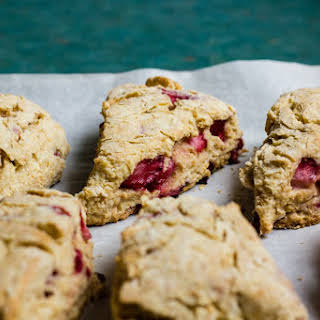 Wholemeal Strawberry Buttermilk Scones.