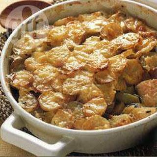 Cheesy Cod And Potato Bake