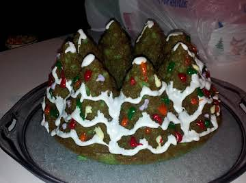 Almond Cake (Christmas Tree shaped)
