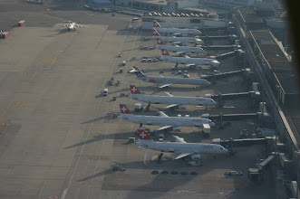 Photo: A part of the Swiss International Airlines docked at Terminal A http://www.swiss-flight.net