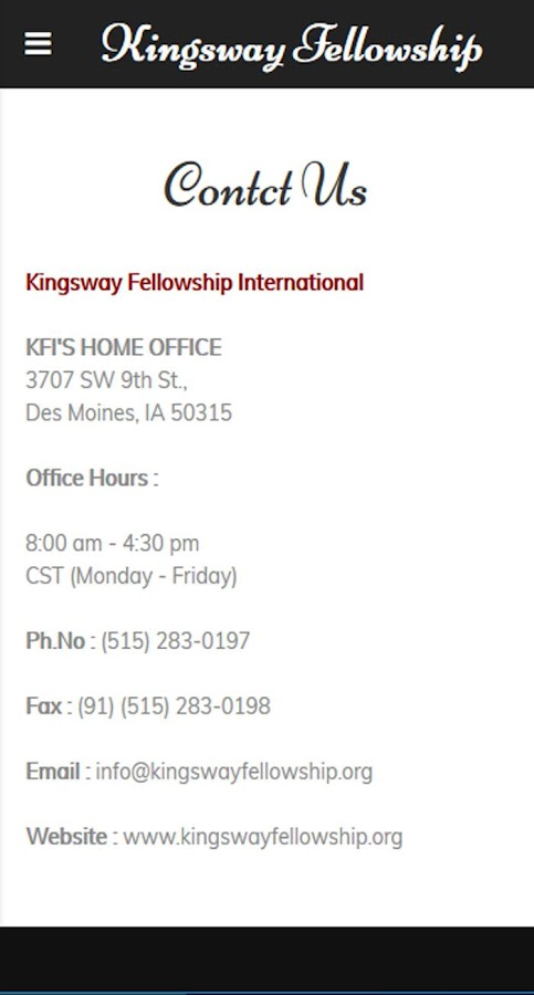 Kingsway Fellowship- screenshot