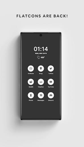 White - A Flatcon Icon Pack screenshots 1